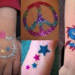 Have an awesome glitter tattoo artist come to your party! Pick your favorite shape and glittery colors! A peace sign, skull & crossbones, fairies, stars, dragon, etc. We have more than you can imagine! <br/>($150 for 1 hour, <br/>$250 for 2 hours)