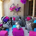 We'll decorate your party with our lounge- Disco Balls, Boas, Rockstar Signs, Funky Animal Print Blankets, Guitar Pillows, etc… Rockstar Disco Style! Includes Set up & breakdown <br/>($375)