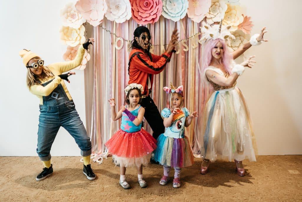Kids Michael Jackson, Minion, Unicorn Birthday Party